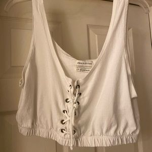 Urban Outfitters white cropped tank